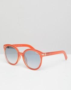 Круглые солнцезащитные очки Quay Australia high tea - Оранжевый