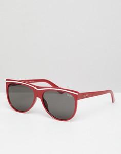Солнцезащитные очки кошачий глаз в полоску Quay Australia Hollywood Nights - Красный