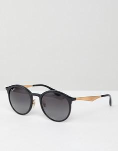 Круглые солнцезащитные очки Ray-Ban - Черный