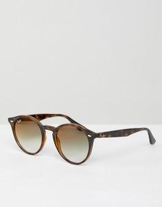 Круглые солнцезащитные очки Ray-Ban - Коричневый