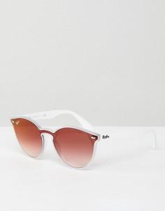 Круглые солнцезащитные очки Ray-Ban - Белый