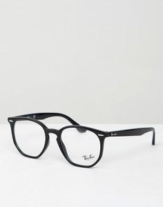 Шестиугольные очки с прозрачными стеклами Ray-Ban - Черный