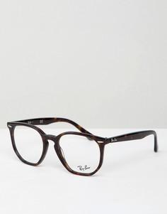 Шестиугольные очки с прозрачными стеклами Ray-Ban - Коричневый