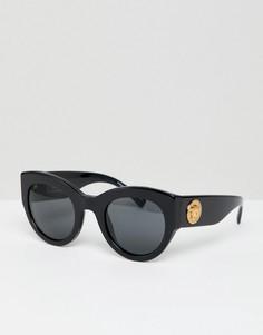 Черные солнцезащитные очки кошачий глаз Versace - Черный