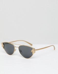 Солнцезащитные очки кошачий глаз Versace - Золотой