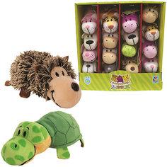 Мягкая игрушка-вывернушка 1toy Ёжик - Черепаха, 12 см