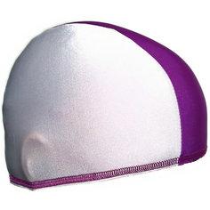 Шапочка для плавания Спортивные мастерские, бело-фиолетовая