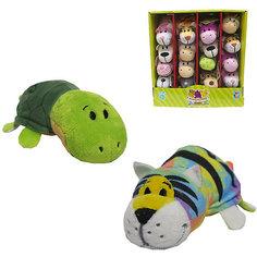 Мягкая игрушка-вывернушка 1toy Радужный тигр - Черепаха, 12 см