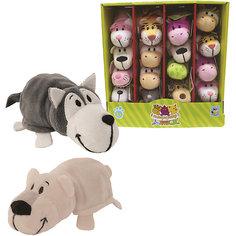 Мягкая игрушка-вывернушка 1toy Хаски - Полярный медведь, 12 см