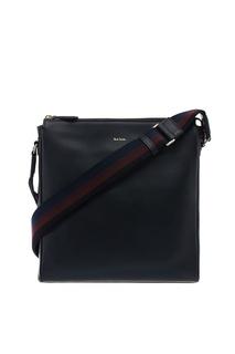 Черная кожаная сумка на молнии Paul Smith