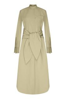 Платье-рубашка цвета хаки Erika Cavallini