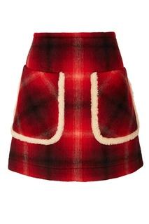 Красная юбка в клетку No.21