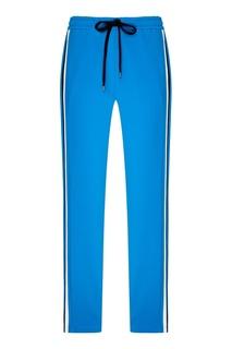 Трикотажные брюки синего цвета No.21