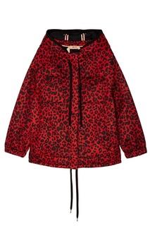 Красная куртка с леопардовым принтом No.21