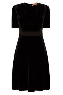 Черное бархатное платье No.21