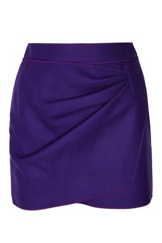 Фиолетовая юбка-мини с драпировкой
