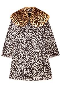 Пальто с леопардовым принтом No.21
