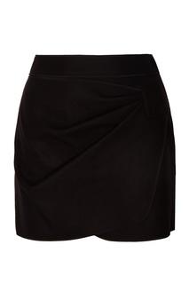 Черная юбка-мини с драпировкой No.21