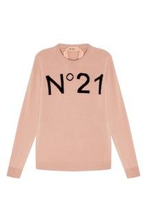 Розовый шерстяной джемпер No.21