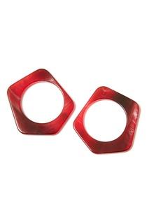 Красные пластиковые серьги Aloud