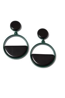 Черные серьги-кольца Aloud