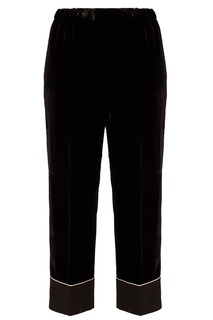Черные бархатные брюки No.21