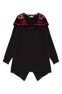 Черный пуловер с платком Balenciaga