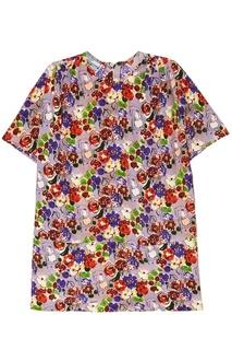 Шелковая блузка с цветами Prada