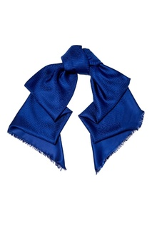 Синяя шаль из шерсти и шелка Fendi