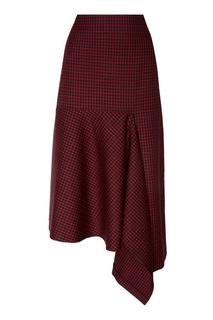 Шерстяная юбка с асимметричной деталью Balenciaga