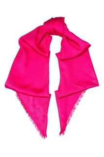 Розовая шаль из шелка и шерсти Fendi