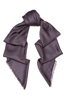 Серый платок из шерсти Fendi