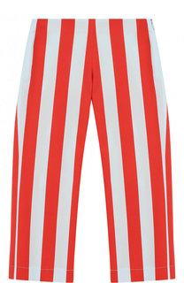 Укороченные брюки из хлопка в полоску Fendi
