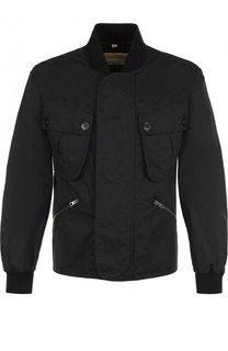 Хлопковая куртка с воротником стойкой Burberry