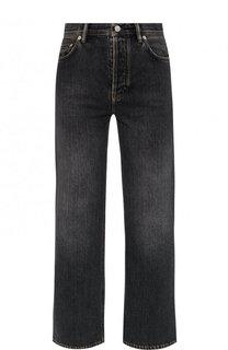 Укороченные расклешенные джинсы с потертостями Acne Studios