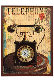 Часы коллаж настенные Русские подарки