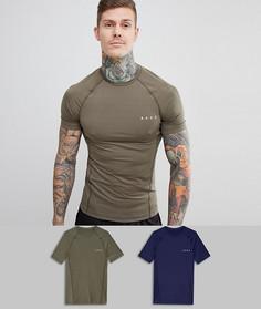 2 обтягивающие футболки из быстросохнущей ткани ASOS 4505 - Со скидкой - Мульти