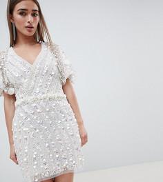 Платье мини с отделкой ракушками A Star is Born Petite - Белый