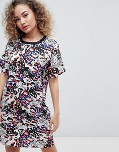 Платье-футболка со звериным принтом Noisy May - Мульти