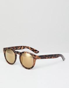 Солнцезащитные очки с круглыми стеклами Monki - Коричневый