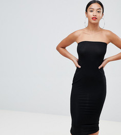 Платье-бандо миди Boohoo Petite - Черный