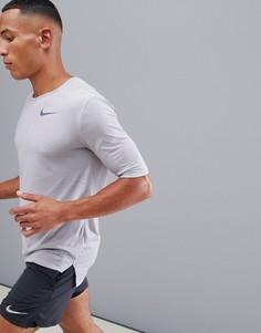 Серая футболка Nike Running Run Division Breathe 892843-027 - Серый