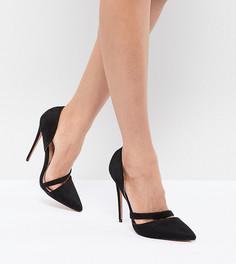 Черные туфли‑лодочки на каблуке с вырезами Lost Ink - Черный