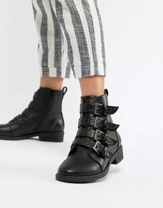 Ботинки с заклепками ASOS DESIGN Ackton - Черный