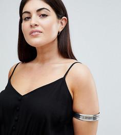Состаренный браслет на предплечье ASOS DESIGN Curve - Серебряный