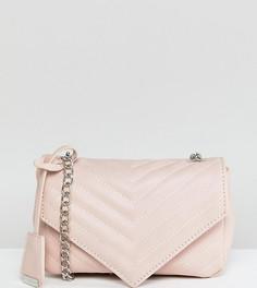 Бежевая стеганая сумка через плечо Glamorous - Бежевый