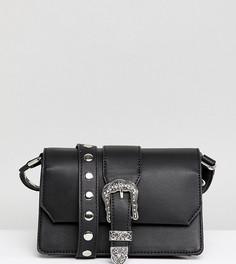 Черная сумка через плечо с пряжкой в стиле вестерн Glamorous - Черный