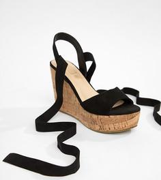 Туфли на танкетке с завязками Truffle Collection - Черный
