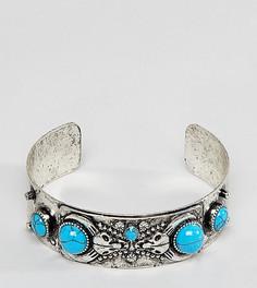 Серебристый браслет с полудрагоценными камнями Reclaimed Vintage Inspired эксклюзивно для ASOS - Серебряный
