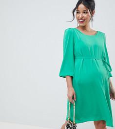 Платье с перекрестом на спине Mamalicious - Зеленый Mama.Licious